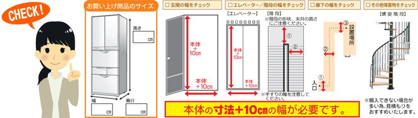 一人暮らしの冷蔵庫を選ぶときのポイント 「設置スペース」と「搬入経路」をチェック